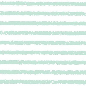Lullaby Stripes( White/Light Blue-Green)