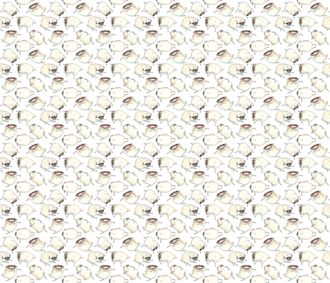 "2"" Funny Dancing Pugs fabric by inkpug on Spoonflower - custom fabric"
