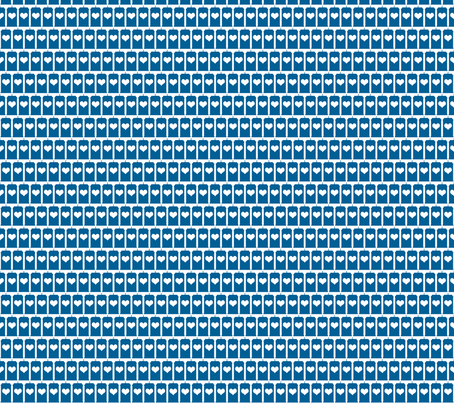 Heart of the Police Box - Blue on White small fabric by designedbygeeks on Spoonflower - custom fabric