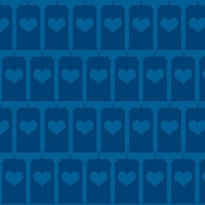 Heart of the Police Box - Blue on Blue large