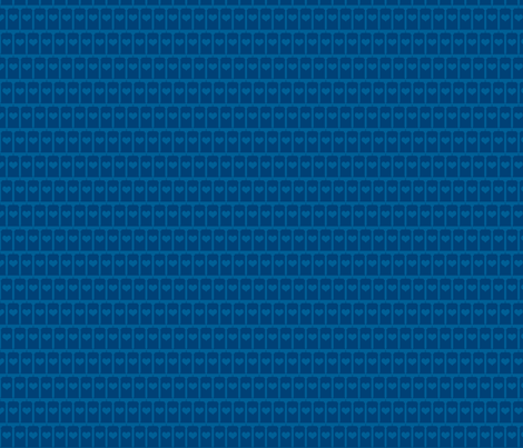 Heart of the Police Box - Blue on Blue small fabric by designedbygeeks on Spoonflower - custom fabric