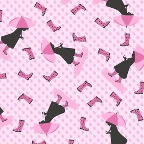 Rainy Days & Wellies (Pink)