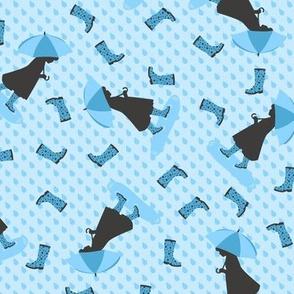Rainy Days & Wellies (Blue)