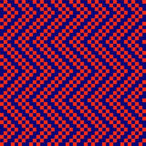 zigzag red blue