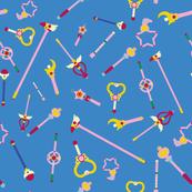 Majokko wands - cerulean