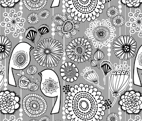 Color Me Floral fabric by run_quiltgirl_run on Spoonflower - custom fabric