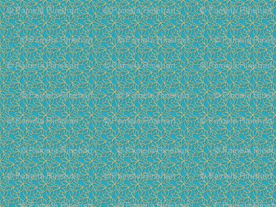 gilded floral lattice