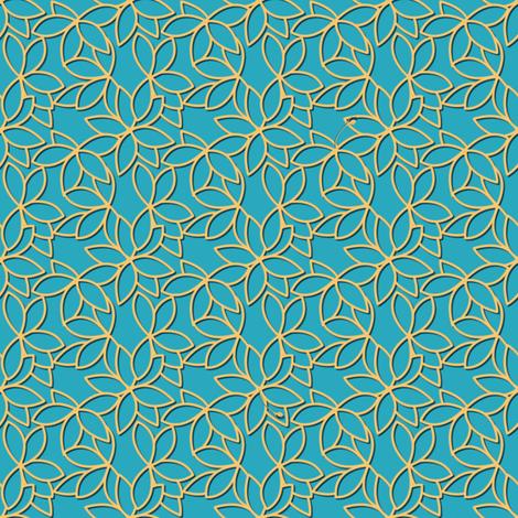 gilded floral lattice fabric by glimmericks on Spoonflower - custom fabric