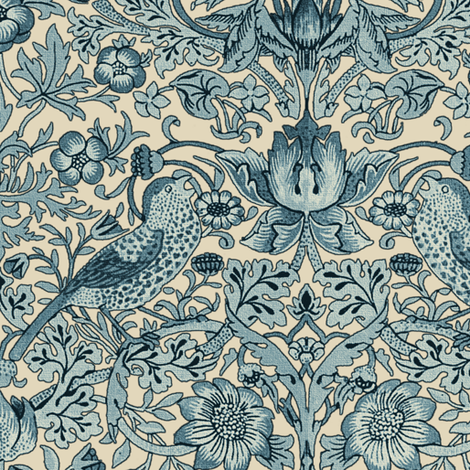 William Morris ~ Strawberry Thief ~ Morning Light II fabric by peacoquettedesigns on Spoonflower - custom fabric