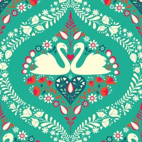 Swan Feature - Turquoise