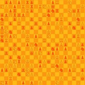 orange chess pattern