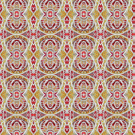 Rise of the Atomic Sunflower  fabric by edsel2084 on Spoonflower - custom fabric