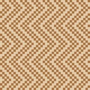 zigzag beige brown
