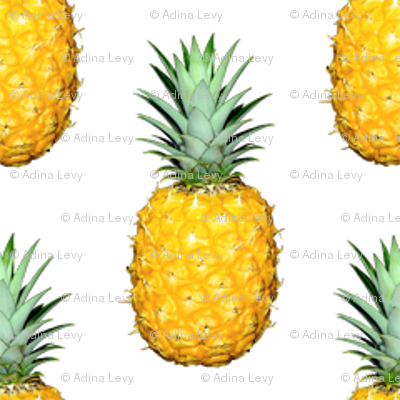 Pineapple Photo Repeating Pattern Tropical Fruit Print