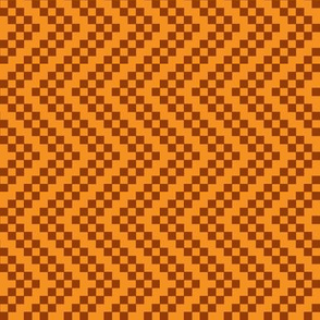 zigzag orange brown