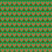 pixel hearts green brown