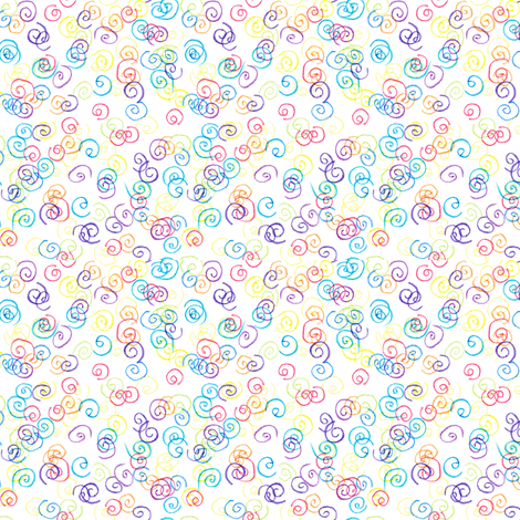 Crayon Drawn Curly Qs fabric by lulakiti on Spoonflower - custom fabric