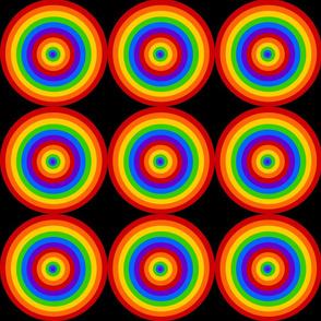 Rainbow Bull's Eye on Black