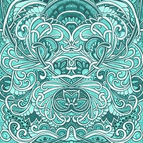 A Blue Green Case of Swirly Curly