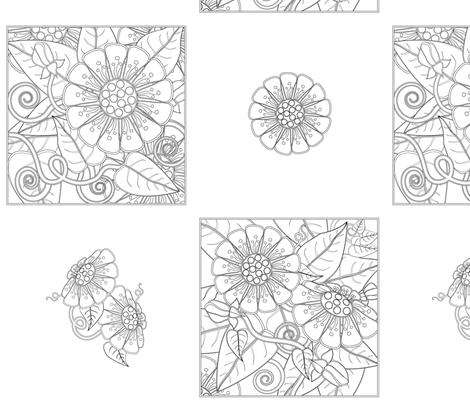 flowering_wall_03-01 fabric by kgarvey on Spoonflower - custom fabric