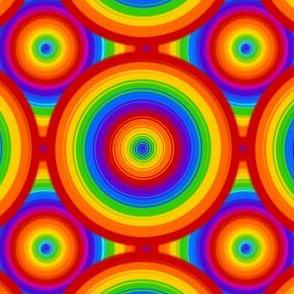 Rainbow Pride - Twirl Dots - Layered