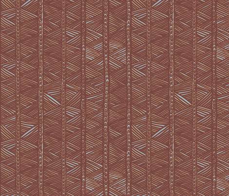 Ghana Panel in Brown fabric by bloomingwyldeiris on Spoonflower - custom fabric