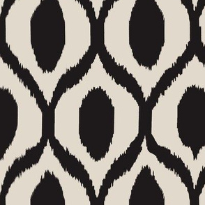 uzebeki ikat black and tan