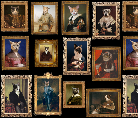 Pet Portrait Gallery fabric by jenithea on Spoonflower - custom fabric