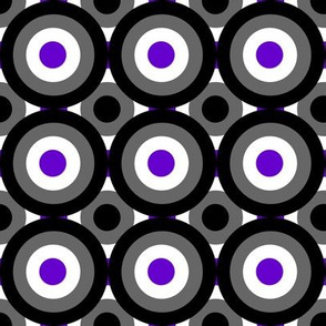 Ace Aware - Bull's Eye Pattern Layered - Asexual Awareness Colors