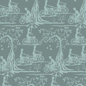 Year of the Bicycle - Grey on Slate
