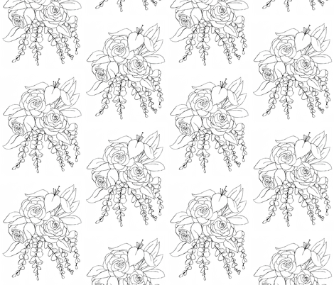 Flower Coloring Design fabric by essieofwho on Spoonflower - custom fabric