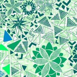 Summer Shapes - Greens