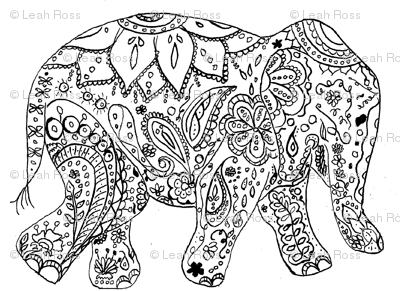 Henna Elephant Wallpaper