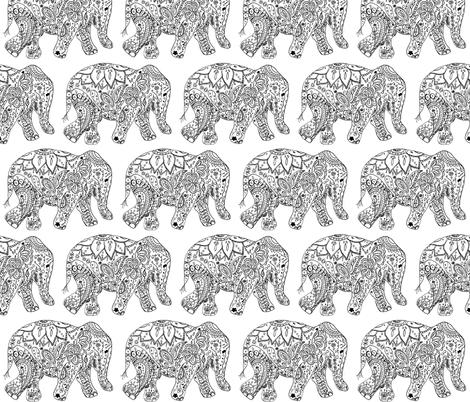 henna_elephant fabric by live&cre8 on Spoonflower - custom fabric
