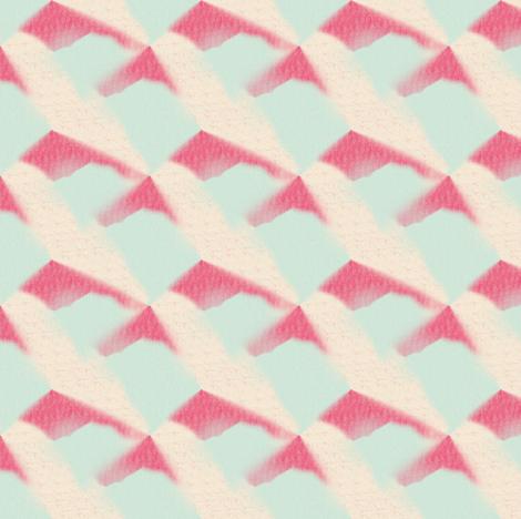 Red Cream Aqua Abstract Splashes fabric by bohobear on Spoonflower - custom fabric