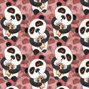 Pandas - Layered on Pink