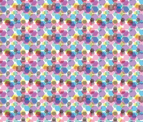 hexagon fabric by arrpdesign on Spoonflower - custom fabric