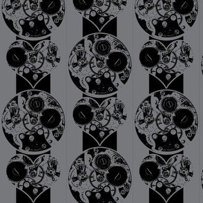 Love the Steel and Steam - Clockwork Steampunk Pinstripe
