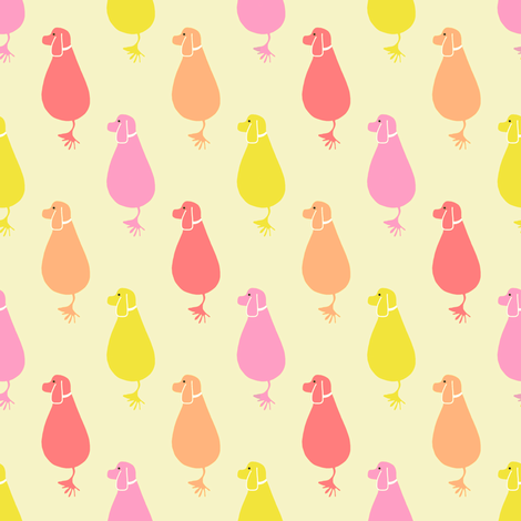 Joy pup - warm fabric by samdraws on Spoonflower - custom fabric