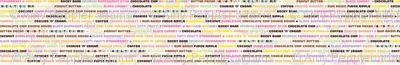 32 Flavors || ice cream scoop cone sweet dessert typography pastel rainbow summer stripes text kids children baby nursery
