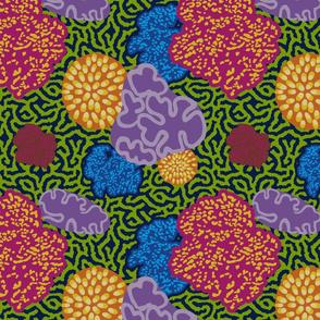 Coral Floral Blue