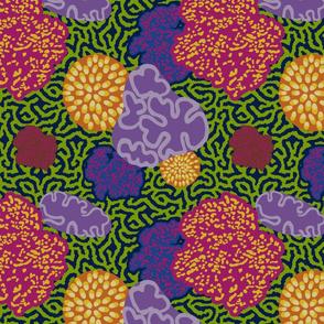 Coral Floral Purple