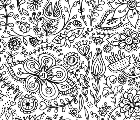 MyLittleGarden fabric by olivia_henry on Spoonflower - custom fabric