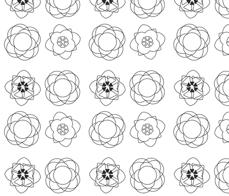 colouringbook fabric by snap-dragon on Spoonflower - custom fabric