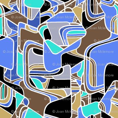 Danish Modern in blue