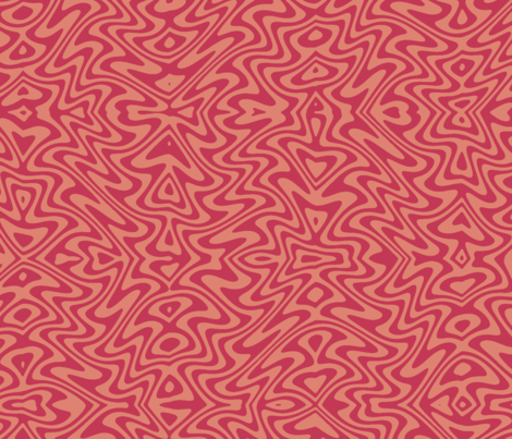 art nouveau butterfly swirl in red and blush fabric by weavingmajor on Spoonflower - custom fabric