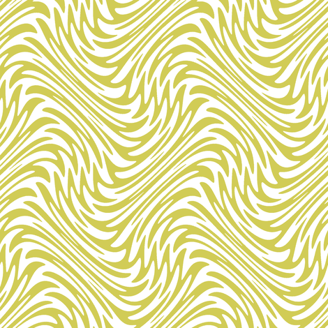 feather swirl in old gold fabric by weavingmajor on Spoonflower - custom fabric