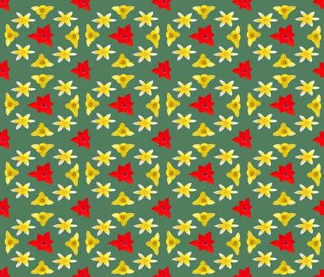 Tulips_1a fabric by ruthjohanna on Spoonflower - custom fabric
