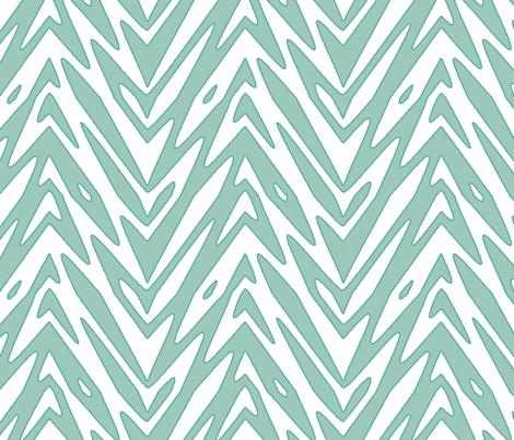 feather zigzag in Spoonflower Birds Blue fabric by weavingmajor on Spoonflower - custom fabric
