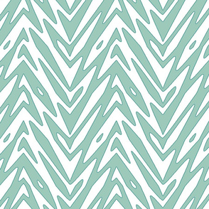 feather zigzag in Spoonflower Birds Blue